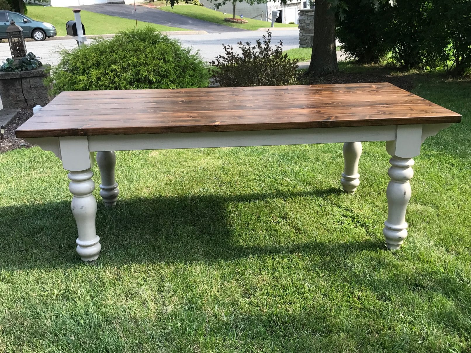 Custom Built Farm Table With Corbel Detail