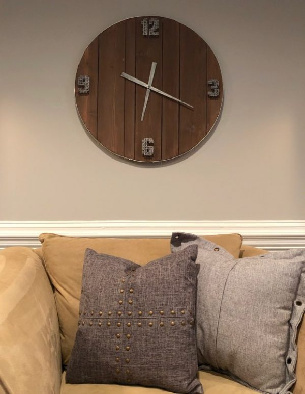 amy's upcycles, custom clock, custom, painted furniture