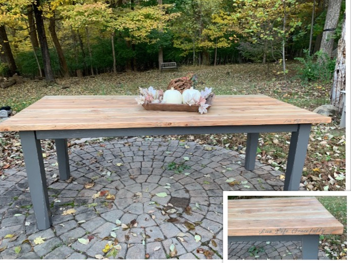 custom built dining table, painted furniture, personalize, Pottstown PA