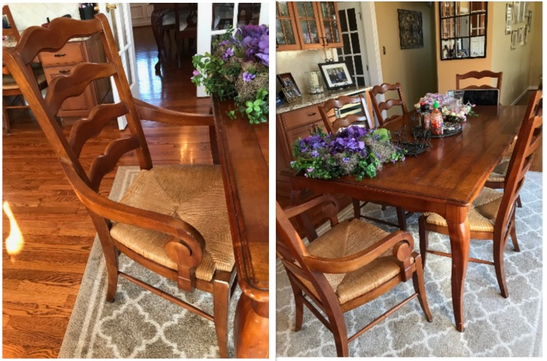 dining table refresh  amy's upcycles