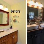 bathroom renovation, before and after pictures, Amy's Upcycles