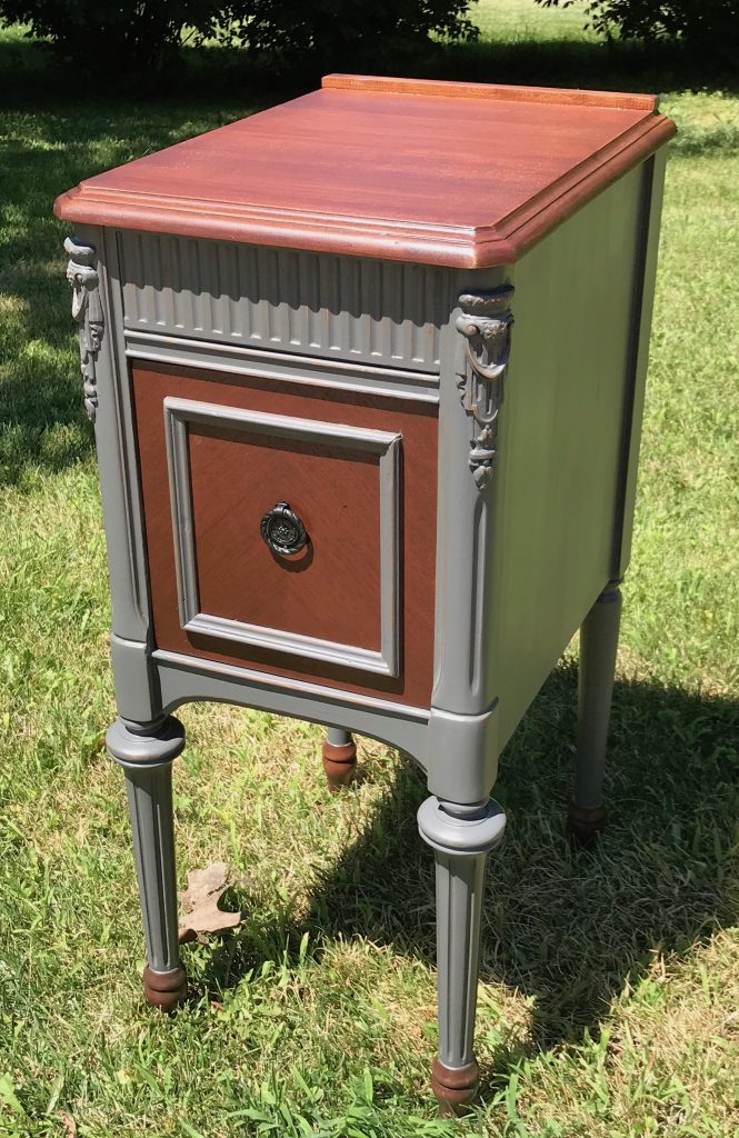 repurposed vanity, painted furniture