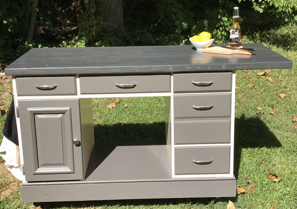 custom kitchen island, painted furniture, amy's upcycles