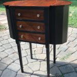 Martha Washington sewing/knitting table, painted furniture, Amy's Upcycles, upcycle