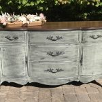 server, buffet, makeover, painted furniture