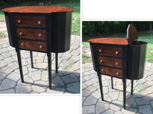 Martha Washington sewing/knitting table, painted furniture, Amy's Upcycles, upcycle