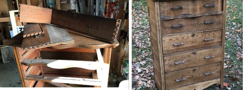 antique dresser, amy's upcycles, painted furniture, refinish, Pottstown PA