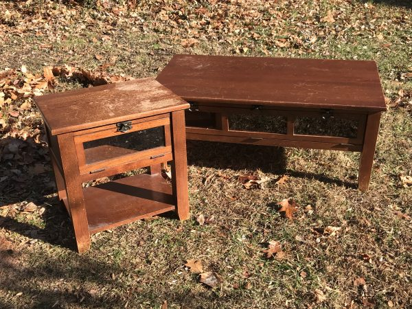 Amy's Upcycles, Pottstown PA, Upcycle, coffee table, end table, painted furniture