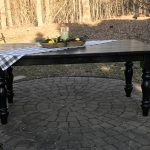 Custom-built farm table, custom size, custom finish, custom details, amy's upcycles, Pottstown PA