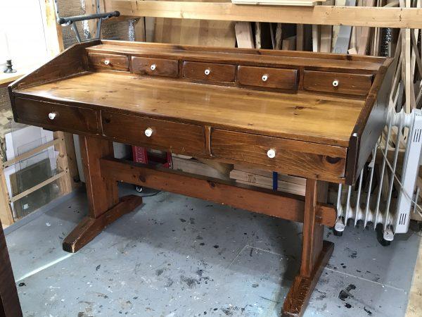 amysupcycles, pottstown pa, Trestel desk, vintage, desk