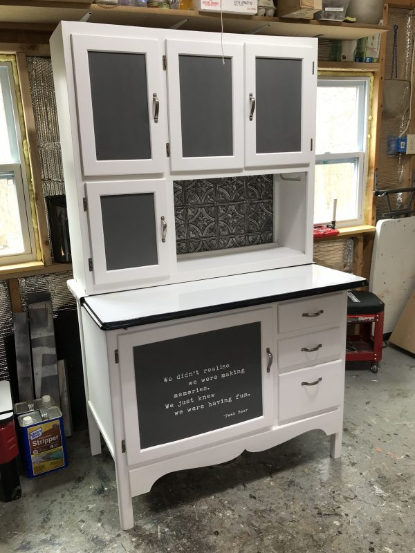 Hoosier Cabinet, Amy's Upcycles, upcycles, refinish, repurpose, customize, painted furniture, Pottstown, PA, TCACC