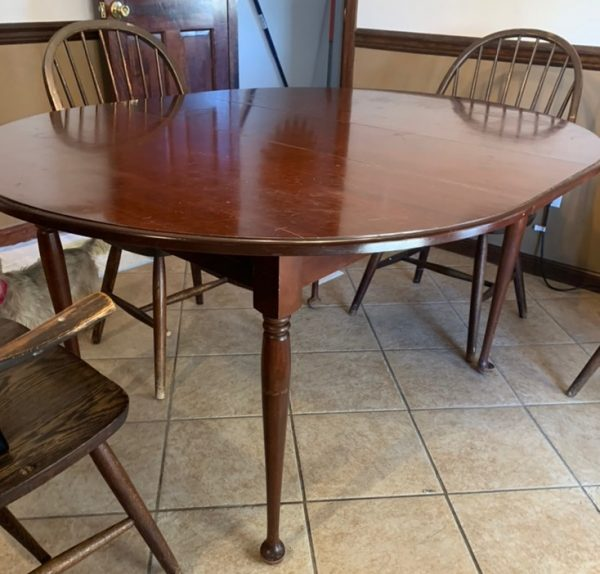 Amy's Upcycles, upcycle, painted furniture, dining table makeover, Pottstown PA, TCACC