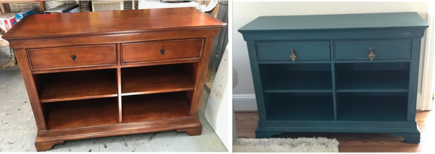 Amy's Upcycles, Pottstown, PA, painted furniture, before and after, sideboard, makeover