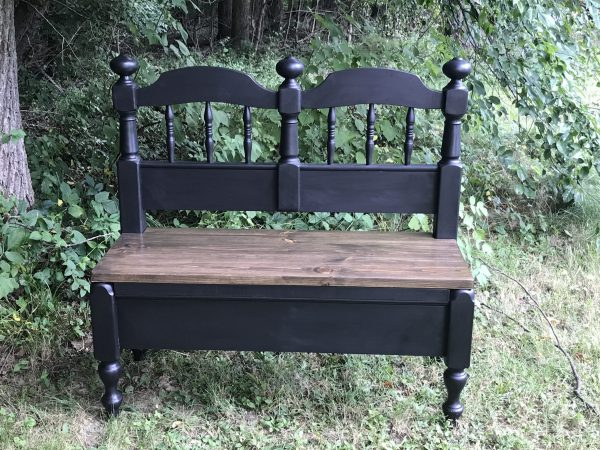 Amy's Upcycles, repurpose, bed to bench, upcycle, Pottstown PA, painted furniture, TCACC