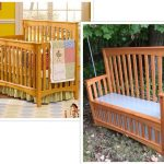 crib, bench, repurpose