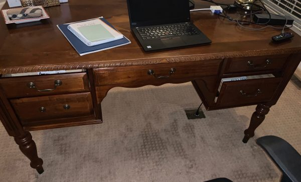before image, desk makeover