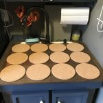 Trivets on board over utility sink
