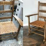 mom's childhood rocker with woven seat