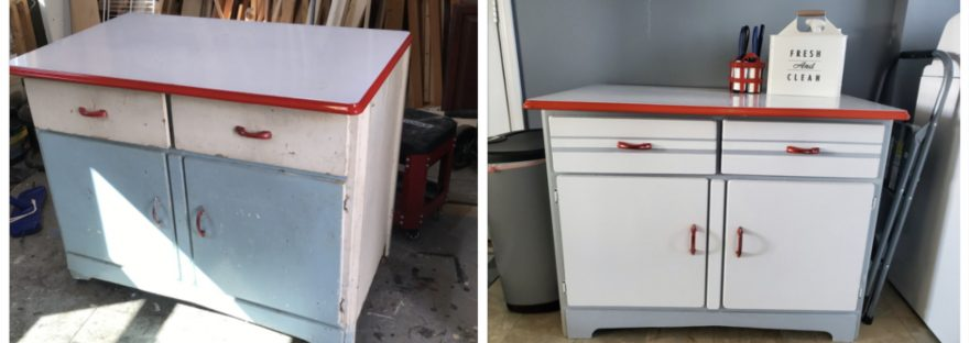 Hoosier cabinet before and after
