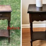 End table before and after