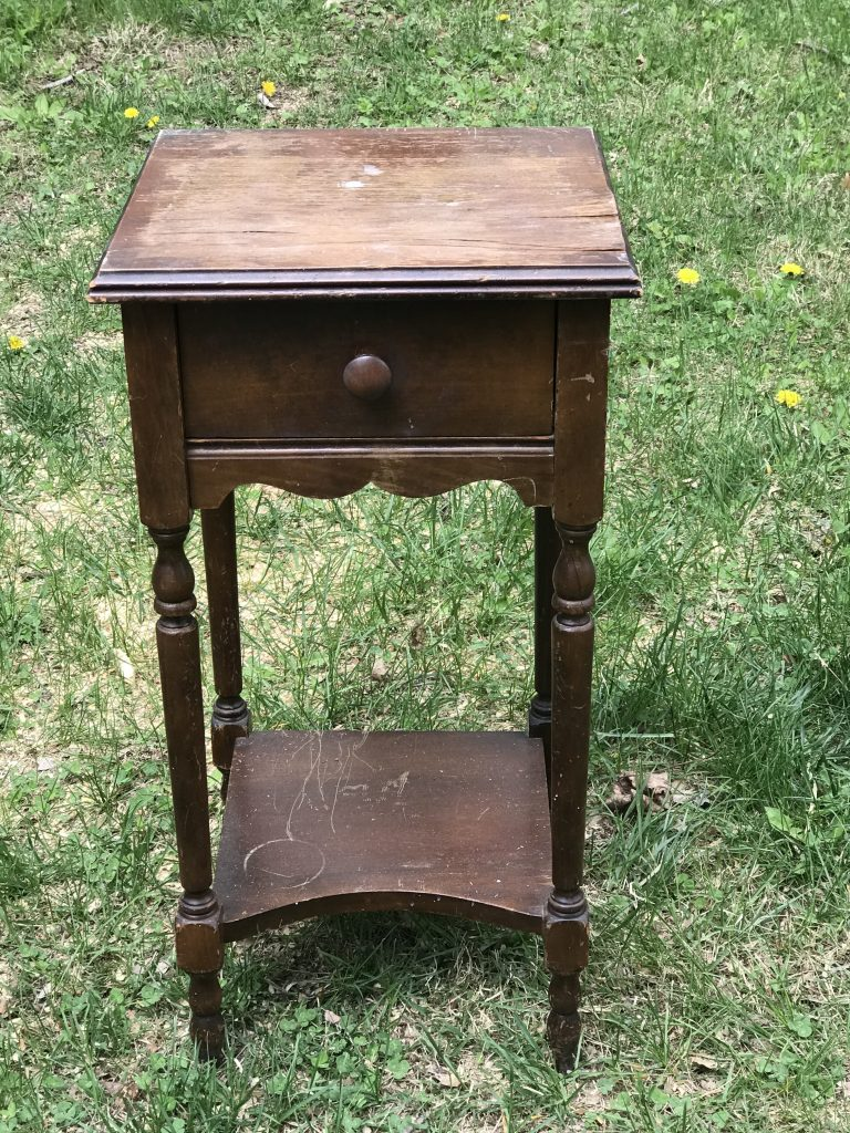 Side table makeover-before