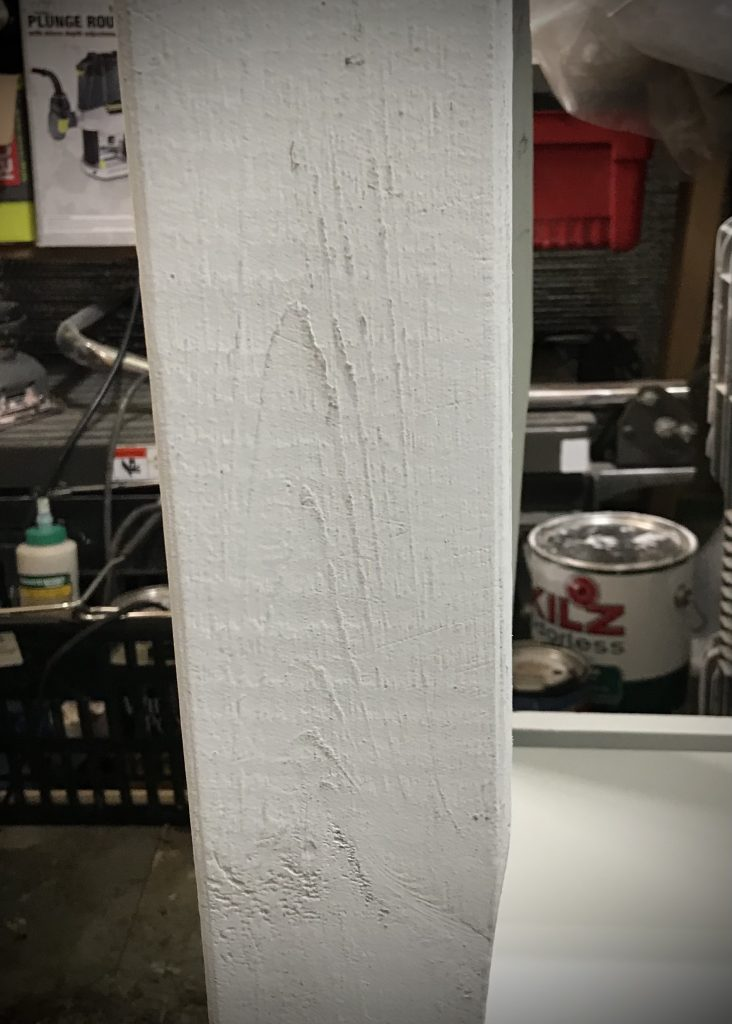 Dry brushing over textured wood