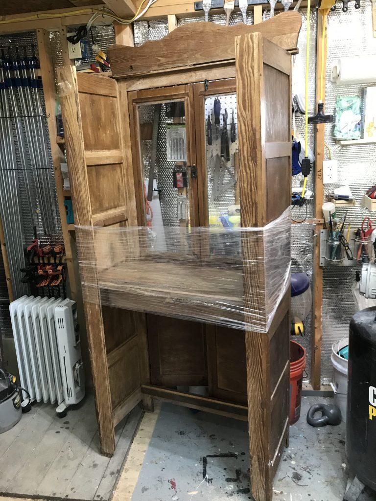 Handmade cabinet before