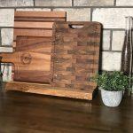 Cutting board care, cutting board stand, display